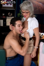 The lustful boss dominant-bitch and the cleaning man