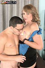 Catrina shags her foremost friend's son