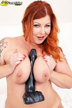 Big-titted Tammy Jean and her monumental toy