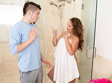 Brandii takes a shower with her son's almost all jaw-dropping friend