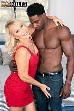 Sandy Pierce bonks a larger than run of the mill, dark-skinned cock